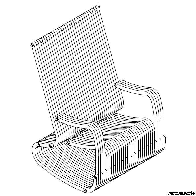 Кресло качалка своими руками фото чертежи и