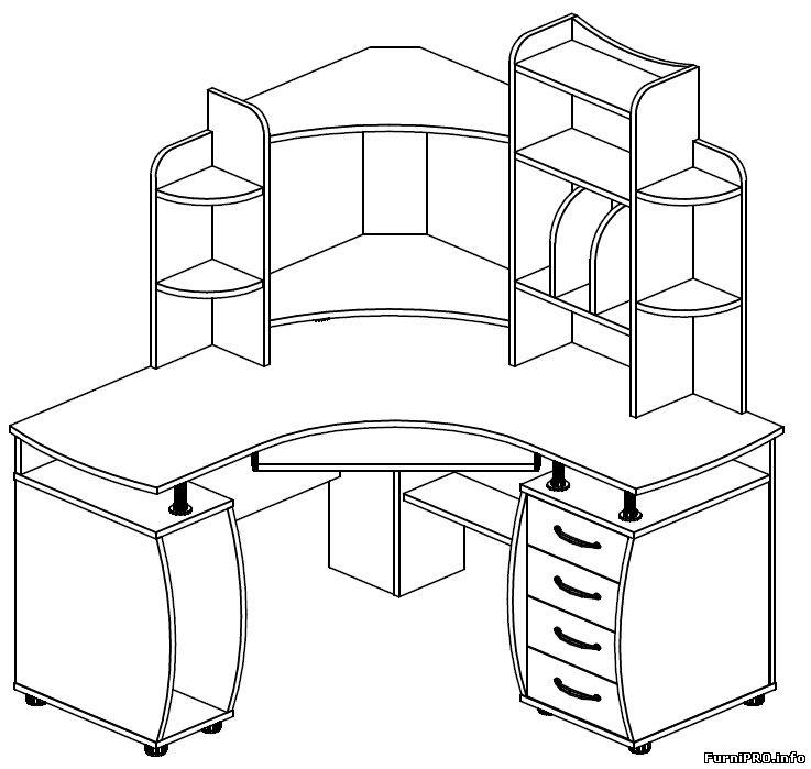 Чертежи стола углового