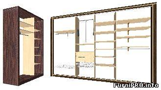Pro100 библиотека для шкафа купе