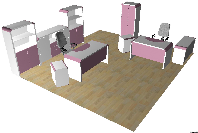 Оригинальная мебель для офиса — набор моделей — Woody — Библиотека моделей мебели — Скачать модели чертеж